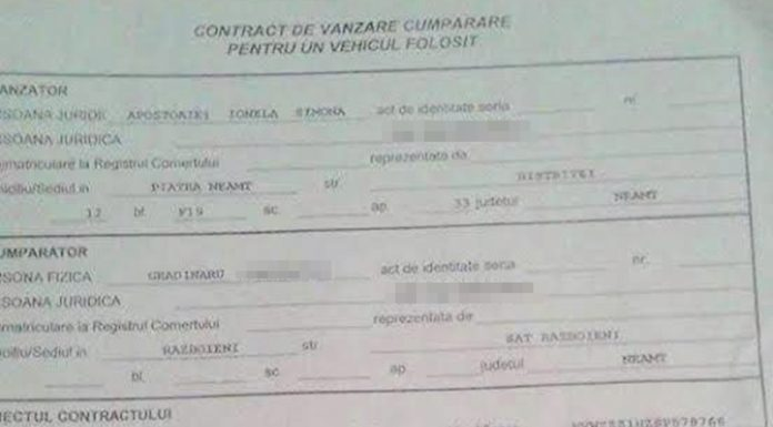 Contractul de vanzare-cumparare, semnat in fals