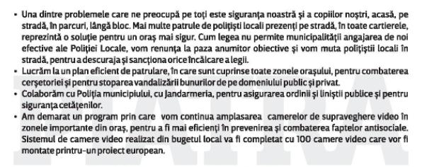 SIGURANTA POLITIA LOCALA, CAMERE VIDEO