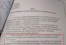 Primaria Borca- raspuns catre DGASPC