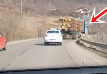 Imagini filmate de primarul Gontaru, in timpul escortarii camionului spre Ocoul Silvic Gîrcina