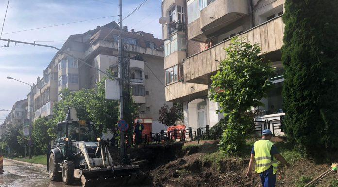 Foto de pe data de 26 iunie, ziua in care s-au terminat reparatiile la conducta care ieri s-a spart din nou