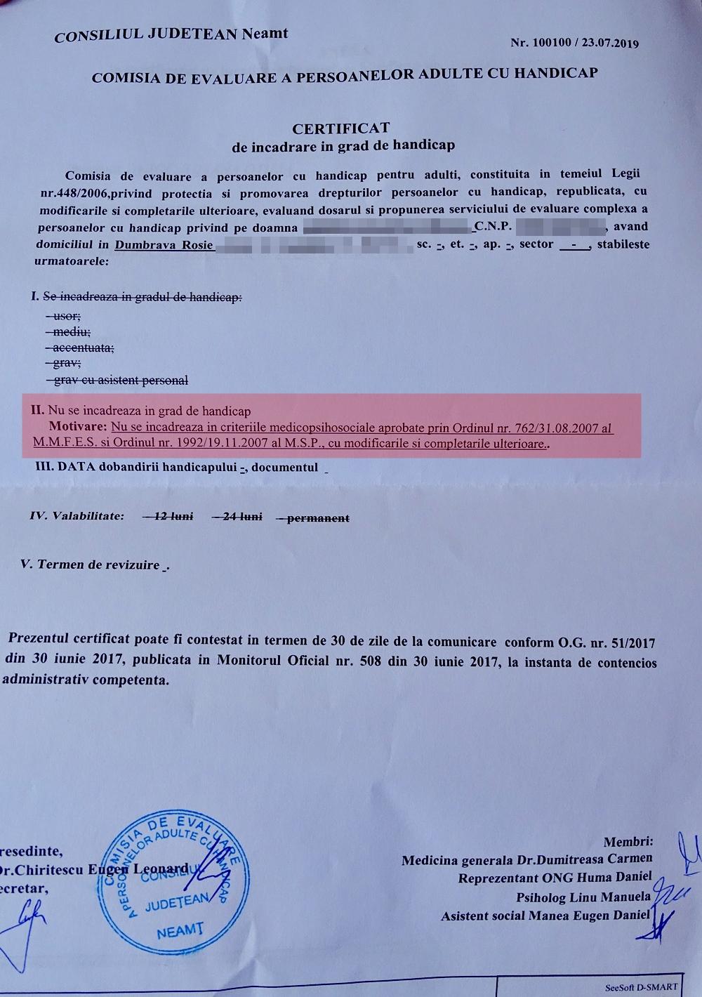 varicoză și dizabilitate)